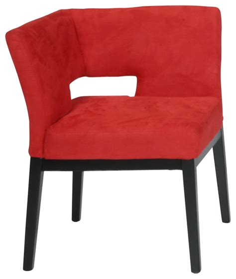 Microfiber Accent Chair Microfiber Corner Chair Contemporary Armchairs And Accent Chairs By Armen Living