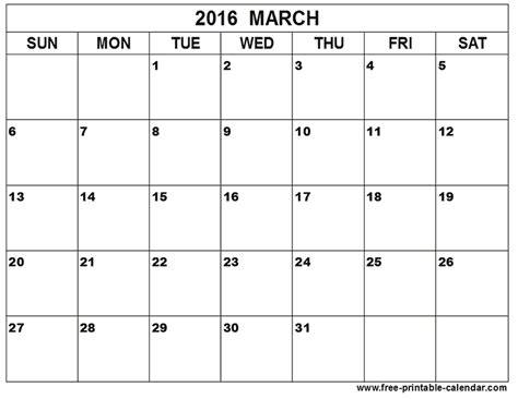 2016 march month calendar printable printable calendar march 2016 calendar