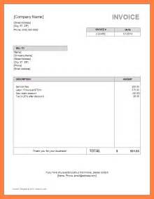 Free Sle Invoice Template Word by Invoice Template Word Uk Invoice Exle