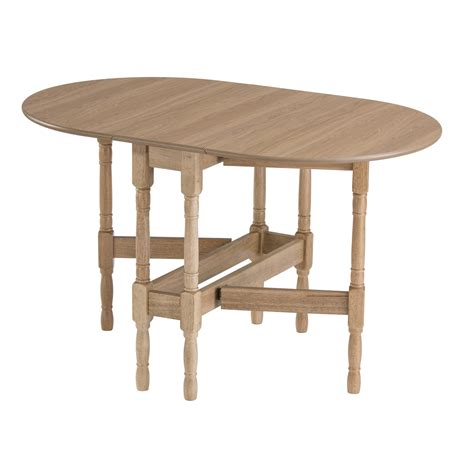 Drop leaf table heatproof folding dining kitchen gateleg oak oval seats up to 6 ebay