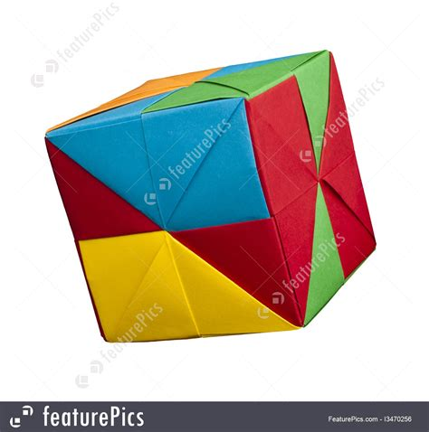 Origami Style - paper cubes folded origami style photo