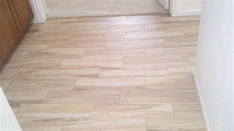 Plank Floor Tile Wood Look Porcelain Tile Planks For Small And Narrow Hallway After Remodel House Design Ideas