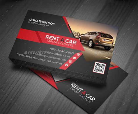 free car rental business card template 20 best automotive business card design templates pixel