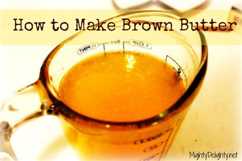 how to make browned butter