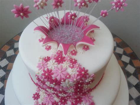 torte con fiori torta esplosione di fiori cuginette sul g 226 teau