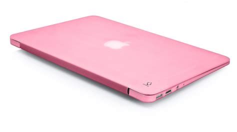 macbook air with pink soft jacket clickbd