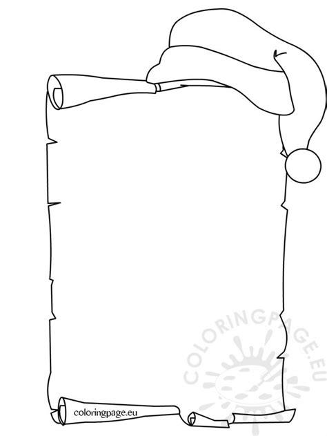 santa claus  list coloring page