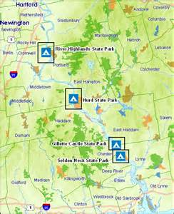 State Parks Map by Deep River Camping Information Ct State Parks And Forests