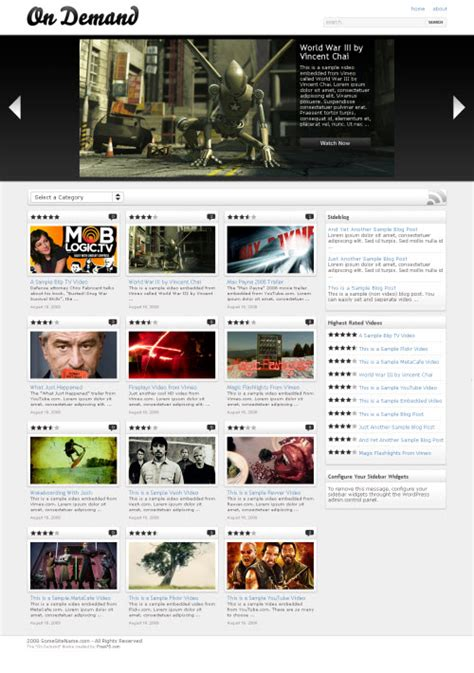 definition theme of movie 10 best free and premium video wordpress themes dobeweb
