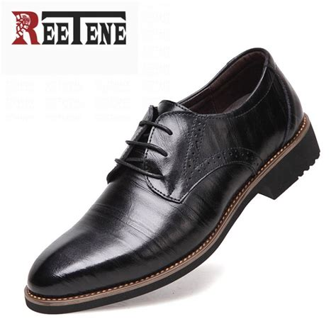 Genuine Leather Dress Shoes 100 genuine leather mens dress shoes high quality oxford