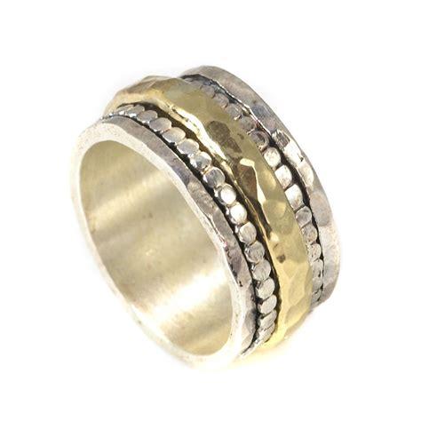 Bicolor Ring by Bicolor Ring Aus 925 Silber Und 375 Gold Drehbarer