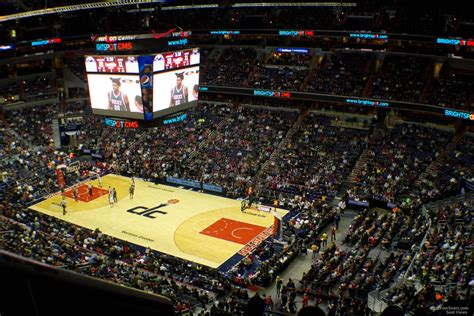 section 1 basketball section 421 row f seat view at verizon center