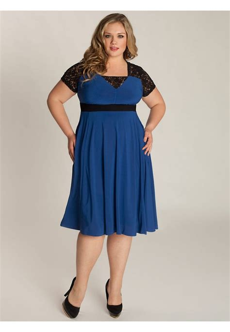 fat lady clothing makeover chantelle dress in moroccan blue fat girl fashion