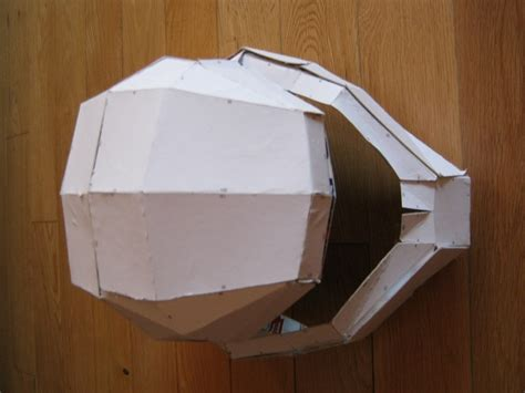 How To Make A Helmet Out Of Paper Mache - halo helmet 183 how to make a papercraft 183 papercraft on cut