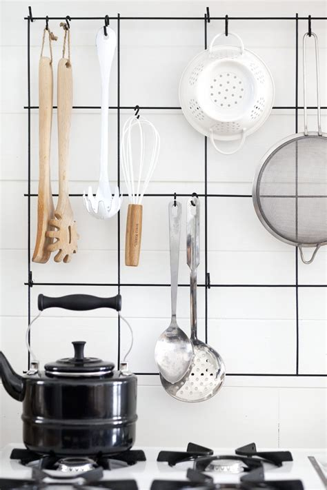 diy kitchen pegboard a beautiful mess diy wire utensil rack a beautiful mess