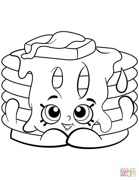 pancake coloring pages pancake shopkin coloring page free printable