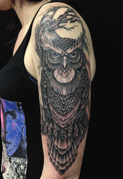 evil owl tattoo 71 best owl tattoos that you will fall in with mens