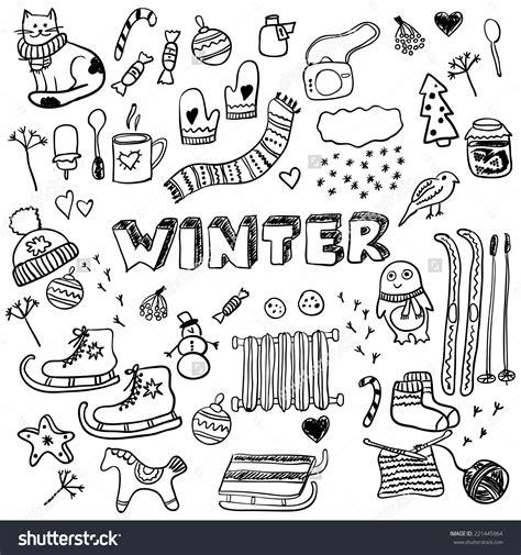 doodlebug winter winter doodles collection stylish design elements