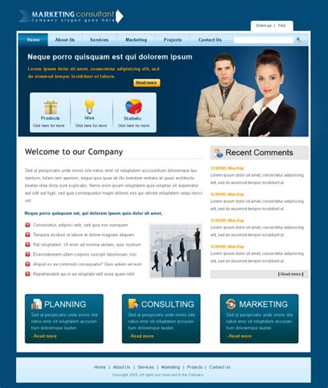 templates for professional website professional web template 6378 business website