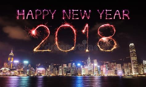 new year 2018 hong kong events 2018 happy new year firework sparkle with hong kong