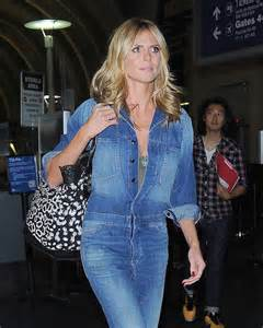 Heidi klum catches a flight out of lax airport in case you didn t