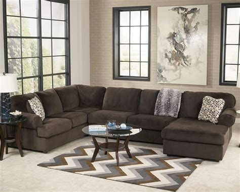 Large Fabric Sectional Sofas Furniture Sectional Large Fabric Sectional In Chocolate Color Furniture Pinterest