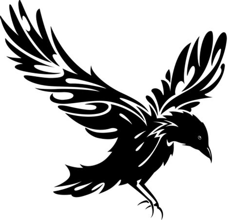 raven tribal tattoo designs