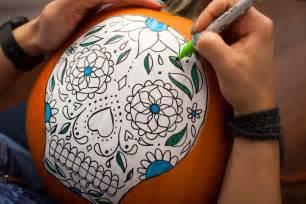 dia de los muertos pumpkin template no carve sugar skull pumpkins brit co