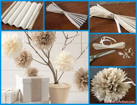 How To Make Paper Decoration - easy diy paper tissue flower decorations best