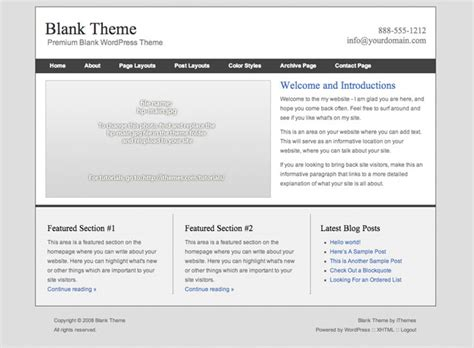 wordpress theme editor blank page blank essence wordpress theme