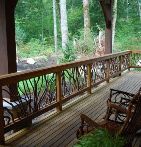 Outdoor Banisters And Railings by Rustic Deck Railing Traditional Outdoor Products