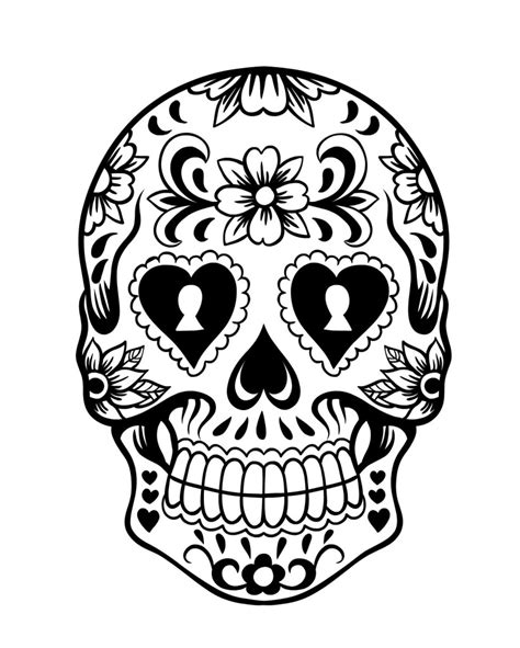 day of the dead sugar skulls coloring pages free day of the dead skulls coloring pages