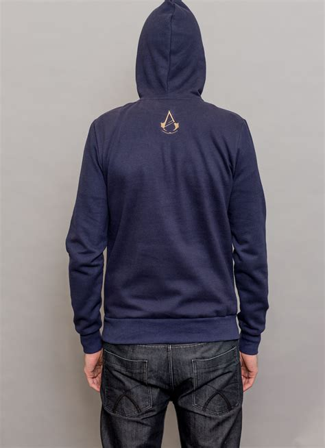 Hoodiesweater Assasin Creed Unity arno blue insert coin clothing