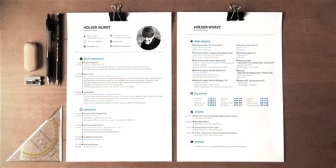 cv resume cover letter template psdai behance