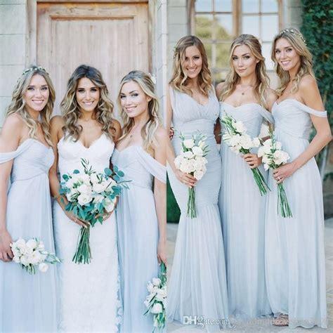 cheap light blue bridesmaid dresses cheap bridesmaids dresses a line ruched chiffon pale light