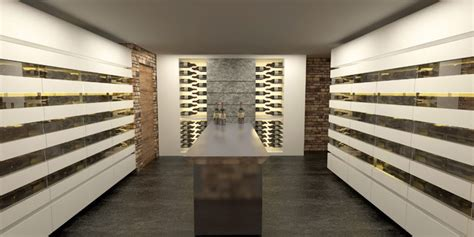 Wine cellars and wine cabinets 3D Design Modern Wine Cellar Other by Degre 12 Custom