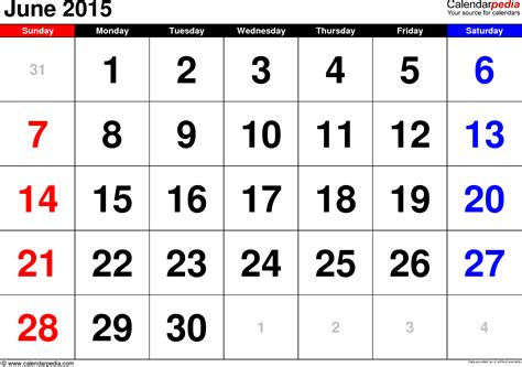 template of june 2015 calendar june 2015 calendars for word excel pdf