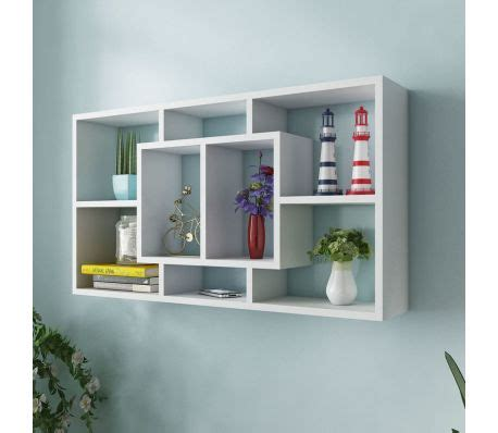 Special Floating Shelves Uk 80x15 Laris floating wall display shelf 8 compartments white vidaxl co uk