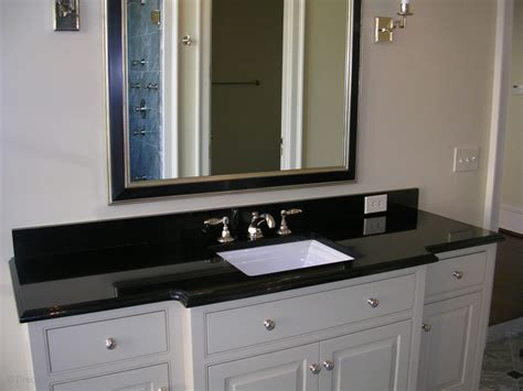 bathroom granite countertops with white cabinets granite bathroom vanity in absolute black with polished