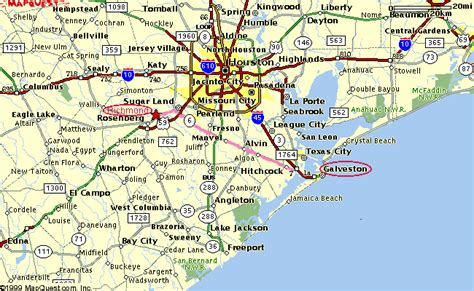 galveston texas map galveston beaches map images
