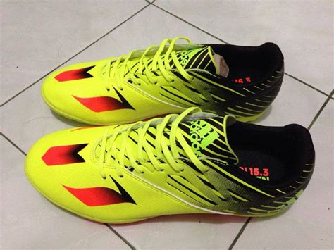 Sepatu Bola Adidas X 15 3 jual sepatu futsal adidas messi x 15 3 solar yellow