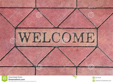 Sign Mat by Welcome Sign Mat Royalty Free Stock Images Image 28745799