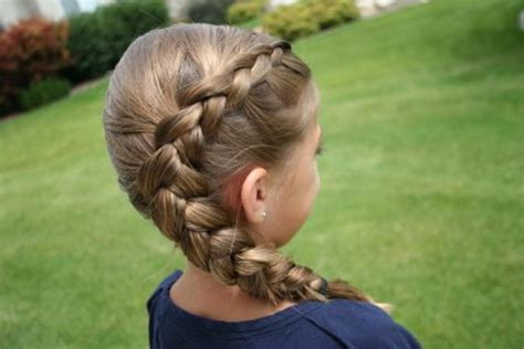 hairstyles for girl in school little girls school hairstyles one sided french braid 2018