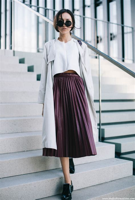 pleated skirts for fall say yes