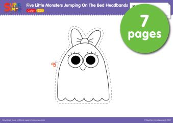 five little monsters jumping on the bed free teaching resources super simple