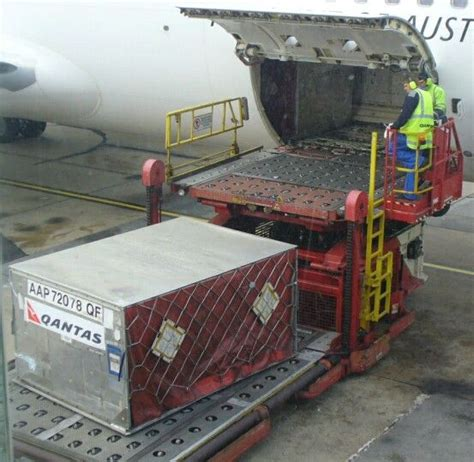 qantas cargo aap container loaded at the airport cargo aircraft cargo airlines