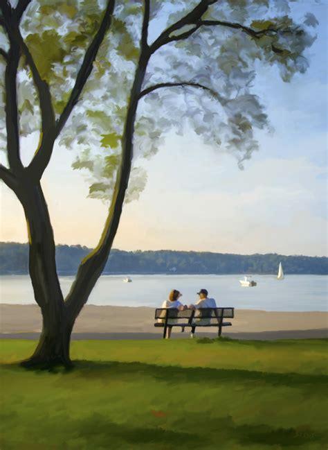 park bench painting park bench sagamore creativesagamore creative