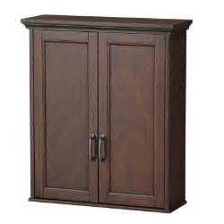 home depot cabinets bathroom foremost ashburn 23 1 2 in w wall cabinet in mahogany