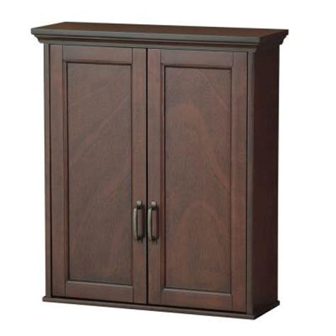 foremost ashburn 23 1 2 in w wall cabinet in mahogany