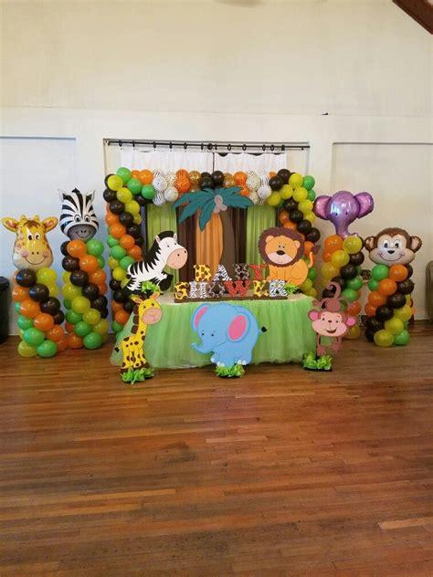 Safari Baby Shower by Safari Baby Shower Mesas Principales